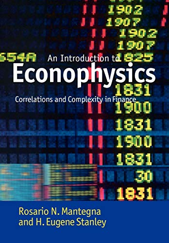 9780521039871: Introduction to Econophysics: Correlations and Complexity in Finance