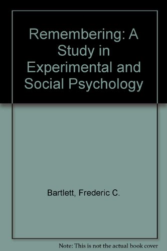 9780521041140: Remembering: A Study in Experimental and Social Psychology