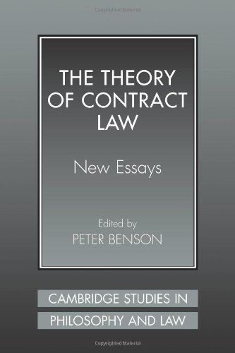 9780521041324: The Theory of Contract Law: New Essays