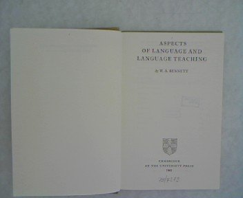 9780521041645: Aspects of Language and Language Teaching
