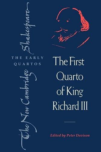 The First Quarto of King Richard III