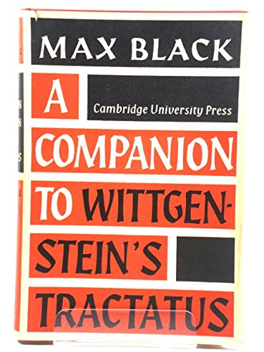 9780521042642: A Companion to Wittgenstein's 'Tractatus'