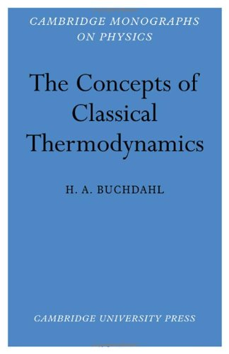 9780521043595: The Concepts of Classical Thermodynamics (Cambridge Monographs on Physics)