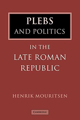 9780521044165: Plebs Politics Late Roman Republic