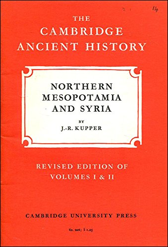 9780521044387: The Cambridge Ancient History (Fascicle): 14: Northern Mesopotamia and Syria