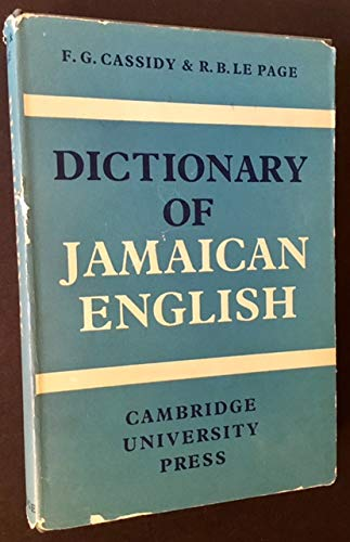 9780521045889: Dictionary of Jamaican English