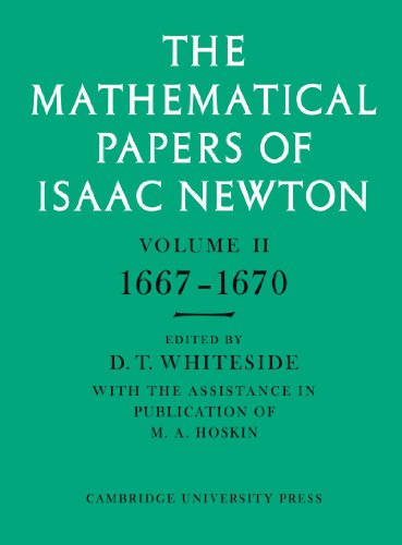 9780521045964: The Mathematical Papers of Isaac Newton: Volume 2, 1667-1670 (The Mathematical Papers of Sir Isaac Newton)