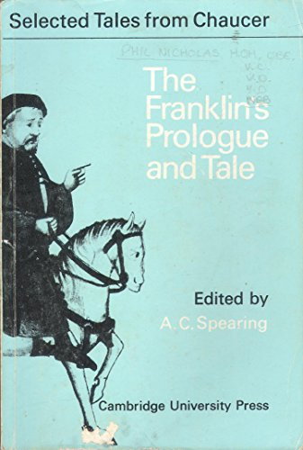 9780521046244: The Franklin's Prologue and Tale (Selected Tales from Chaucer)