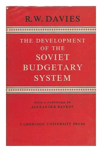 9780521047951: The Development of the Soviet Budgetary System