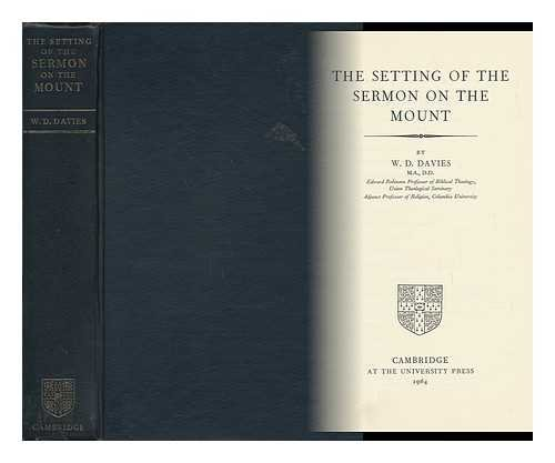 9780521047975: The Setting of the Sermon on the Mount
