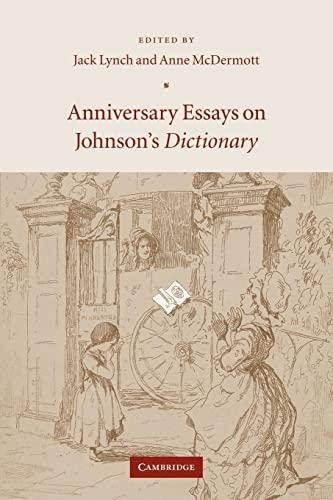9780521049887: Anniversary Essays on Johnson's Dictionary