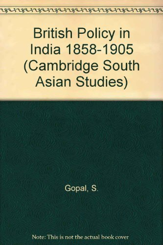 9780521051194: British Policy in India 1858-1905 (Cambridge South Asian Studies)