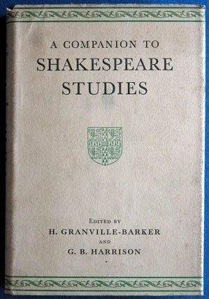 9780521051323: Companion to Shakespeare Studies