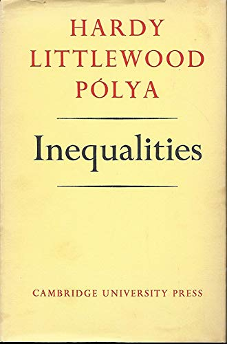 9780521052061: Inequalities (Cambridge Mathematical Library)
