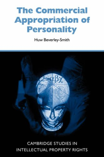9780521052528: The Commercial Appropriation of Personality (Cambridge Intellectual Property and Information Law)