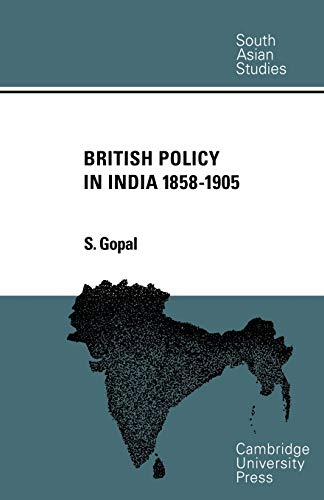 9780521053235: British Policy in India 1858-1905 (Cambridge South Asian Studies)