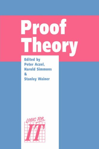 9780521054164: Proof Theory: A selection of papers from the Leeds Proof Theory Programme 1990