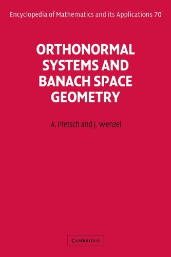 9780521054317: Orthonormal Systems and Banach Space Geometry (Encyclopedia of Mathematics and its Applications)