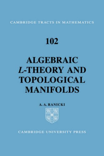9780521055215: Algebraic L-theory and Topological Manifolds (Cambridge Tracts in Mathematics)