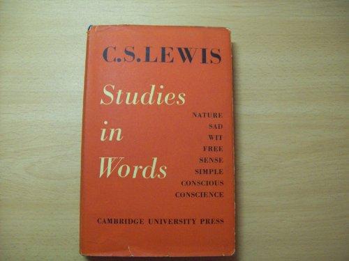9780521055475: Studies in Words