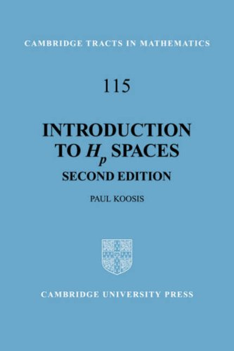 9780521056816: Introduction to Hp Spaces (Cambridge Tracts in Mathematics)