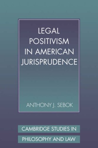 9780521057165: Legal Positivism in American Jurisprudence (Cambridge Studies in Philosophy and Law)