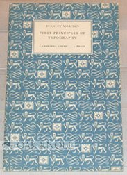 9780521057684: First Principles of Typography (Authors' and Printers' Guides)