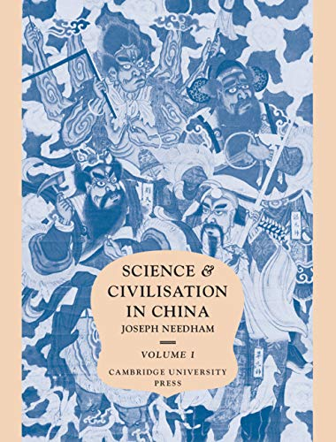9780521057998: Science and Civilisation in China. Volume 1: Introductory Orientations