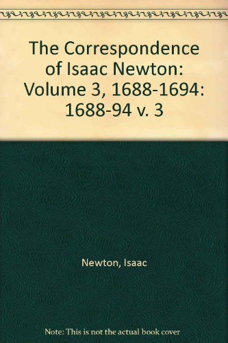 9780521058148: The Correspondence of Isaac Newton: Volume 3, 1688-1694