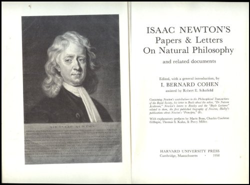 Isaac Newton's Papers and Letters on Natural: Newton, Isaac