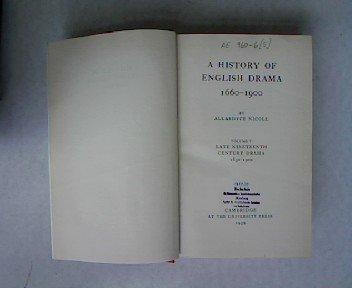 9780521058315: A History of English Drama 1660-1900: Volume 5, Late Nineteenth Century Drama 1850-1900