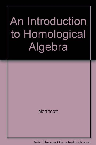 9780521058414: An Introduction to Homological Algebra