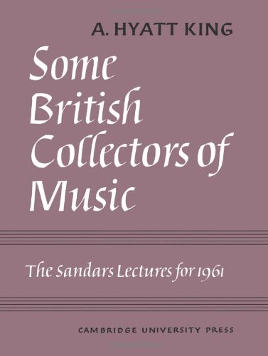 9780521058865: Some British Collectors of Music c.1600-1960