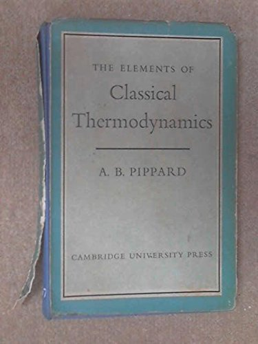 9780521059558: Elements of Classical Thermodynamics:For Advanced Students of Physics