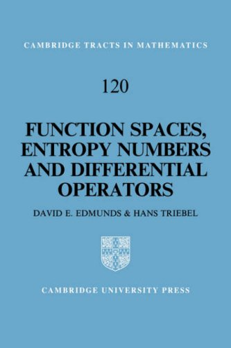 9780521059756: Function Spaces, Entropy Numbers, Differential Operators (Cambridge Tracts in Mathematics)