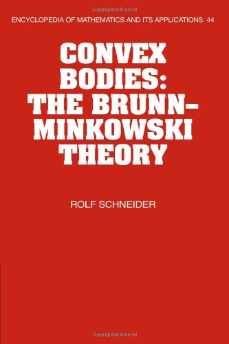 9780521059916: Convex Bodies: The Brunn-Minkowski Theory (Encyclopedia of Mathematics and its Applications)