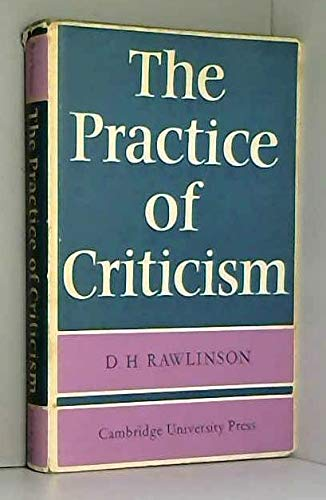 9780521060455: The Practice of Criticism