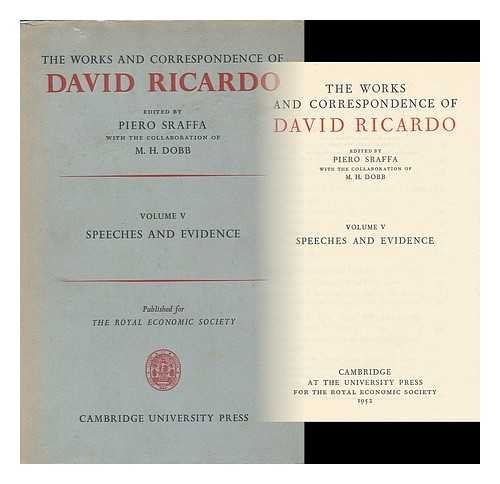 9780521060707: The Works and Correspondence of David Ricardo: Volume 5, Speeches and Evidence (v. 5)
