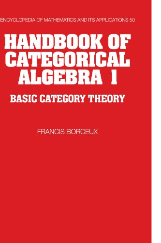 9780521061193: Handbook of Categorical Algebra: Volume 1, Basic Category Theory: Basic Category Theory v. 1 (Encyclopedia of Mathematics and its Applications)