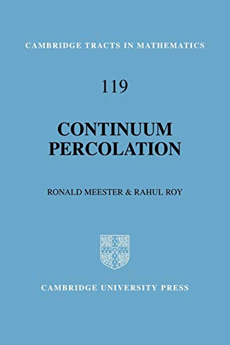 9780521062503: Continuum Percolation (Cambridge Tracts in Mathematics)