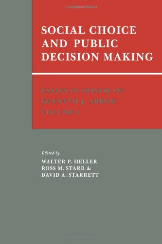 9780521063791: Essays in Honor of Kenneth J. Arrow: Volume 1, Social Choice and Public Decision Making