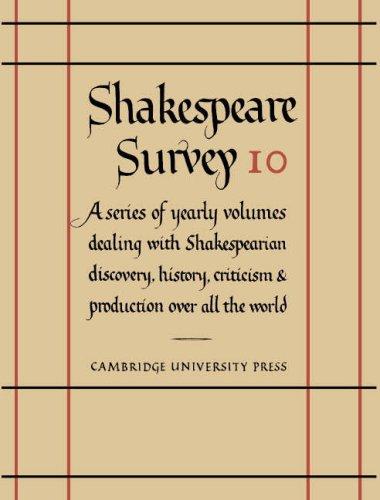 Shakespeare Survey: Volume 10, The Roman Plays (v. 10)