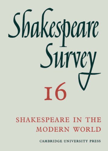 9780521064293: Shakespeare Survey: Volume 16, Shakespeare in the Modern World (v. 16)