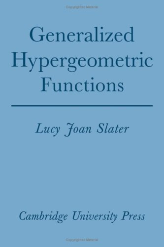 9780521064835: Generalized Hypergeometric Functions