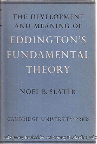 9780521064866: The Development and Meaning of Eddington's 'Fundamental Theory': Including a Compilation from Eddington's Unpublished Manuscripts