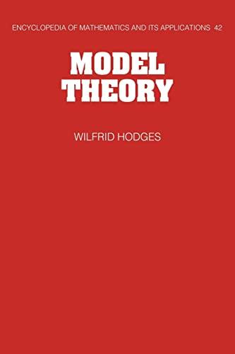 9780521066365: Model Theory