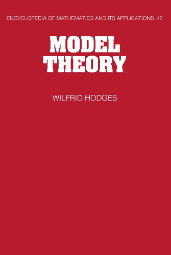 9780521066365: Model Theory (Encyclopedia of Mathematics and its Applications)
