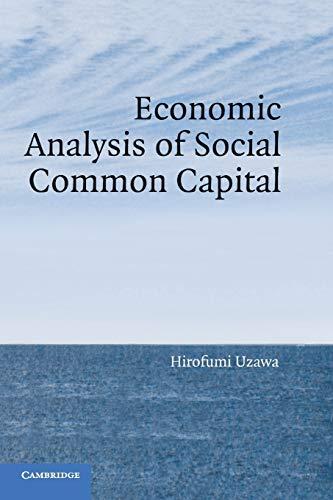 9780521066495: Economic Analysis of Social Common Capital