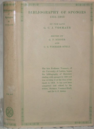 9780521067157: Bibliography of Sponges 1551-1913