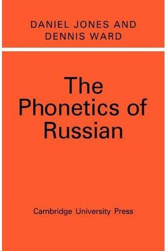9780521067362: The Phonetics of Russian
